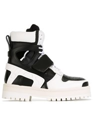 Hood By Air 'Avalanche' Boots Leather Neoprene Rubber Black
