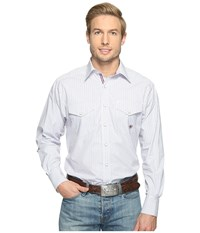 Ariat Aiden Snap Shirt White Men's Long Sleeve Button Up