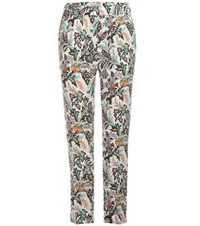 Etro Printed Silk Trousers White