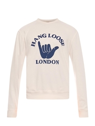 Ymc Hang Loose Print Cotton Sweatshirt