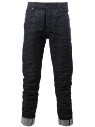 G Star Raw Research Creased Effect Jeans Blue