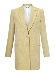 Jigsaw Linen Twill Coat Yellow