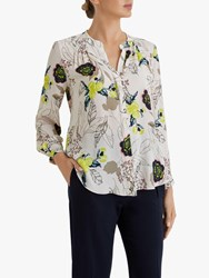 Fenn Wright Manson Petite Severine Floral Print Blouse Champagne Blossom