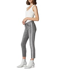 Blank Nyc The Reade Crop Skinny Jeans With Crystal Stripes Skyscraper