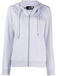 Love Moschino Embellished Logo Hoodie Grey