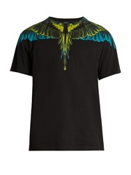 Marcelo Burlon Valentin Cotton Jersey T Shirt Black Multi