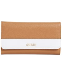 Guess Katiana Slim Clutch Boxed Wallet A Macy's Exclusive Style Caramel Multi
