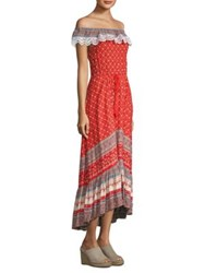 Nightcap Clothing Poppy Off The Shoulder Gown Red Poppy
