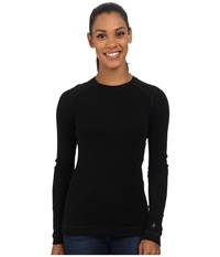 Smartwool Nts Mid 250 Crew Top Black Women's Long Sleeve Pullover
