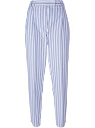 Alberto Biani Stripe Pegged Trousers Multicolour