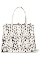 Alaia Vienne Small Laser Cut Leather Tote