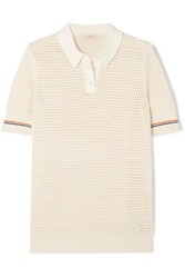 Tory Burch Cotton Polo Shirt Ivory