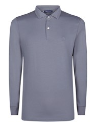 Aquascutum London Kendrick Long Sleeve Polo Shirt Grey