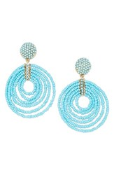 Baublebar Women's Clover Drop Earrings Turquoise