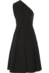Preen By Thornton Bregazzi Athena One Shoulder Stretch Crepe Dress Black