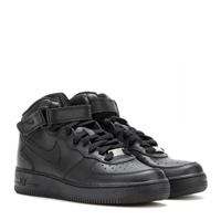 Nike Air Force Mid '07 Leather High Top Sneakers Black Black
