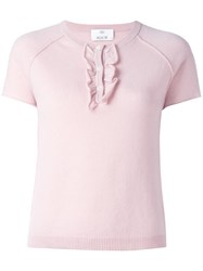 Allude Knit T Shirt Pink Purple