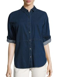 Eileen Fisher Denim Shirt Midnight
