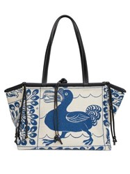 Loewe Cushion Dodo Jacquard Tote Bag Blue Multi