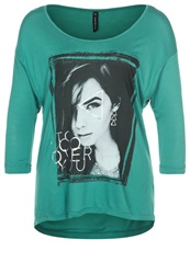 Fresh Made Long Sleeved Top Bluish Green