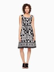 Kate Spade Lantern Scoopneck Dress Black Fresh White