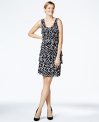 Styleandco. Style And Co. Sleeveless Printed Pleated Dress Only At Macy's Ikat Daze