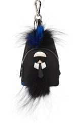 Fendi Men's Karlito Micro Backpack Bag Charm Black