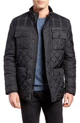 Cole Haan Mixed Media Quilted Jacket Black