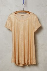 Bordeaux Glimmered Tee Peach