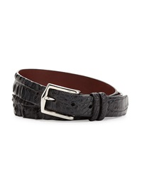 W.Kleinberg Hornback Alligator Belt Black