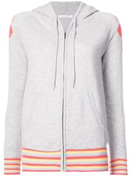 Chinti And Parker Zip Front Hoodie Grey