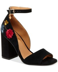 Nanette Lepore By Martina Embroidered Dress Sandals Only At Macy's Women's Shoes Black