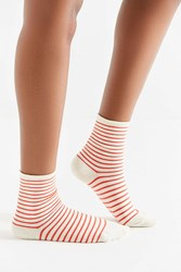 Hansel From Basel Nautical Striped Crew Sock Red White