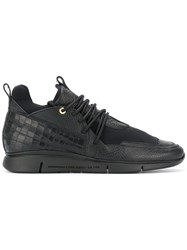 Android Homme Runyon Lace Up Sneakers Men Leather Nylon Rubber 44 Black