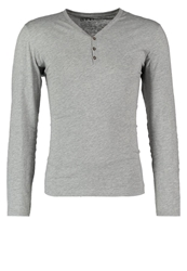 Tom Tailor Denim Serafino Long Sleeved Top Grey Melange