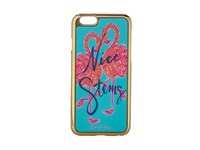 Lilly Pulitzer Iphone 6 Luxe Cover Minty Fresh Flamingo Motif Cell Phone Case Blue
