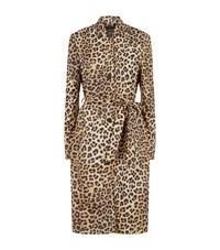 Set Leopard Trench Coat Grey