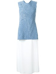 3.1 Phillip Lim Wrapped Woven Tank Top Blue