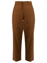 Chloe Linen And Cotton Blend Trousers Khaki