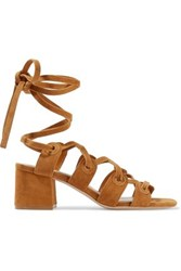 Sandro Suede Sandals Tan