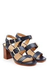 A.P.C. Leather Sandals With Block Heel
