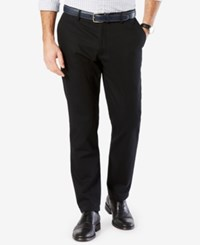 Dockers Men's Standard Athletic Fit Stretch Clean Khaki Pants Black Twill
