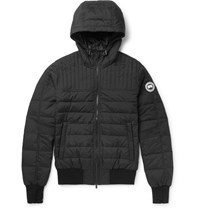 Canada Goose Cabri Quilted Shell Hooded Down Jacket Black