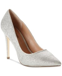 Call It Spring Agrirewiel Pumps Women's Shoes Silver Glitter