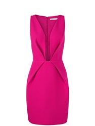 Finders Keepers The Creator Plunging Neckline Dress Pink Pink