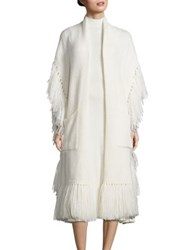 Polo Ralph Lauren Fringe Open Front Cardigan Cream