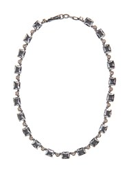 Bottega Veneta Cubic Zirconia And Oxidised Silver Necklace