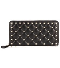 Valentino Rockstud Leather Wallet Black