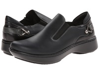 Naot Footwear Nautilus Jet Black Leather Black Madras Leather Tin Gray Leather Women's Slip On Shoes