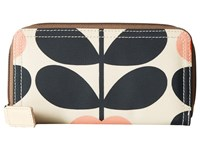 Orla Kiely Summer Flower Stem Big Zip Wallet Sunset Wallet Handbags Multi